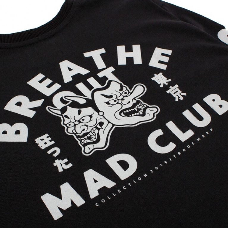 Лонгслив BREATHE OUT - Mad Club Чёрный