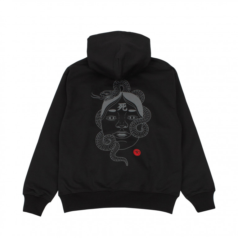 Худи BREATHE OUT - Noh Mask Чёрный
