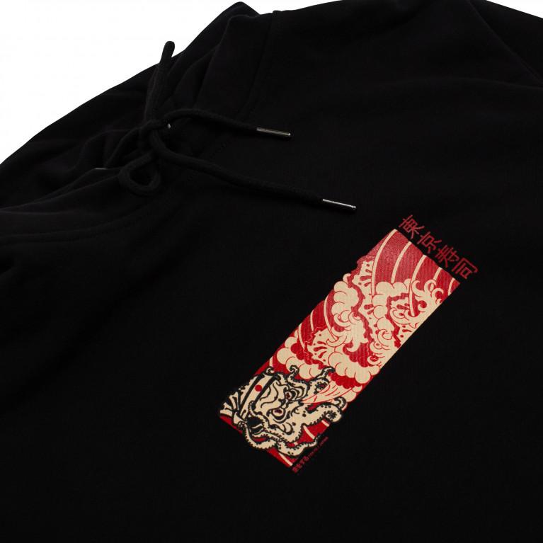 Худи BREATHE OUT - Octopus Box Logo Чёрный