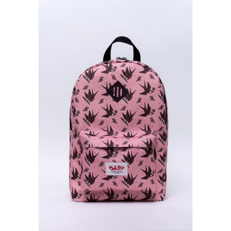 Рюкзак Oldy принт  (Розовый/Ласточки)