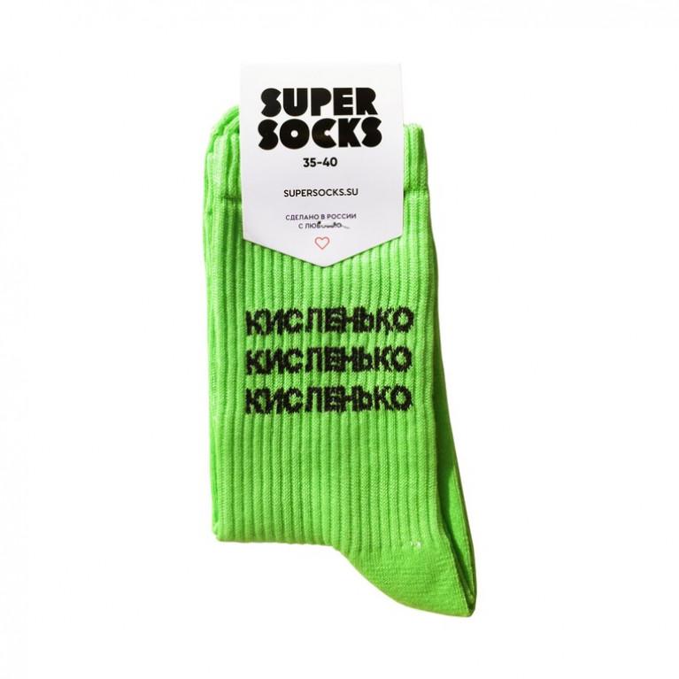 Носки SUPER SOCKS Кисленько носков  ЦВЕТ Зеленый