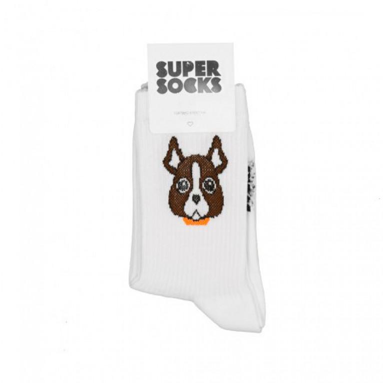 Носки SUPER SOCKS Мистер Бобик  Белый
