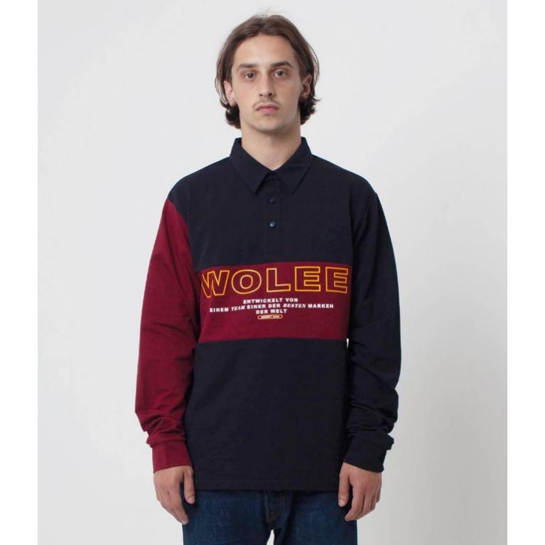 Лонгслив - Rugby shirt / Color blockСиний